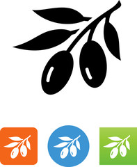 Olive Branch Icon - Illustration