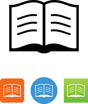Open Book Icon - Illustration