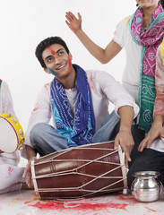 Man with a dholak
