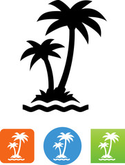 Palm Trees Icon - Illustration