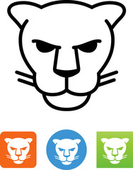 Panther Face Icon - Illustration
