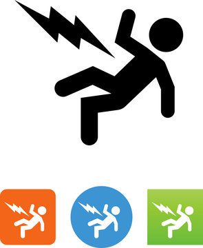 Person Being Electrocuted Icon - Illustration