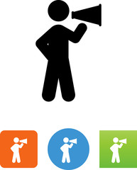 Person With A Megaphone Icon - Illustration