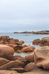 pink granite coast Brittany France