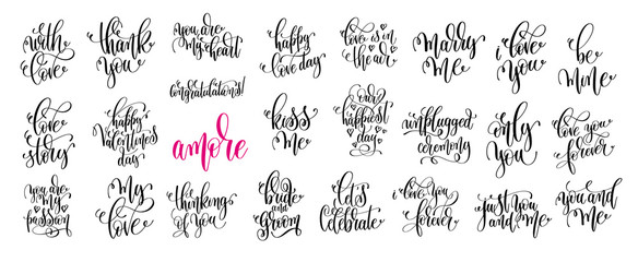 set of 25 hand lettering wedding invitation and romantic valenti
