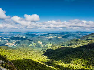 Drone aerial view from forest landscape at Monte Verde, Minas Gerais, Brazil.