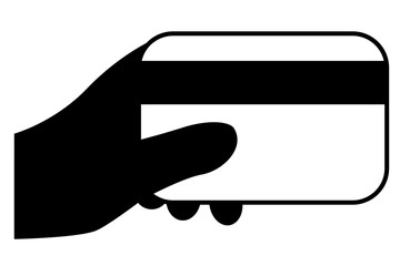 Hand - Holding Debit or Credit Card