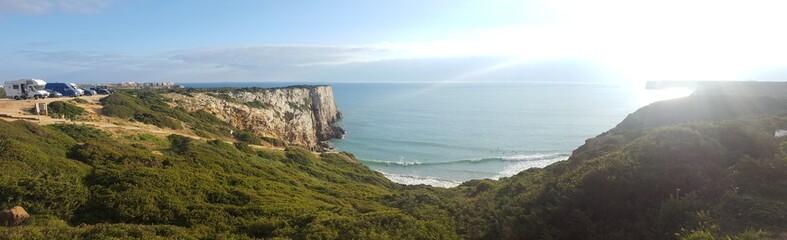 Landscapes of the Sagres coast in Portugal