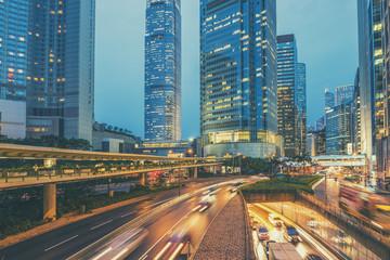 Hong Kong,06 August 2017:- Hong Kong traffic at night