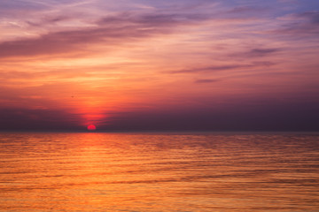 Sunset on the Adriatic sea, Croatia, Europe.