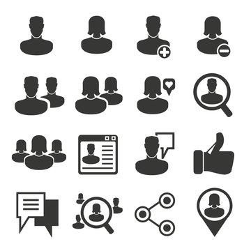 people social media, social network icons