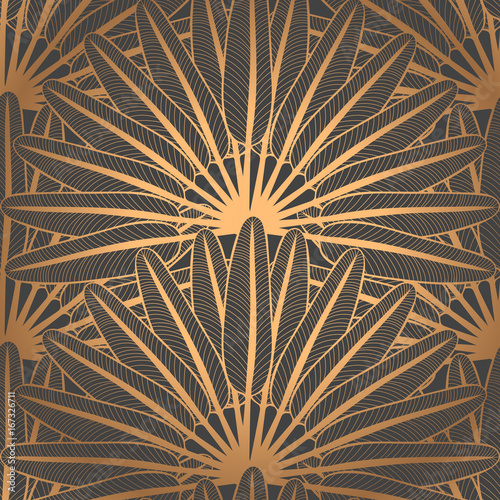 Luxury Background Design Pattern Vector Seamless Peacock Feather Scale Ornament Royal Indian Fan Print