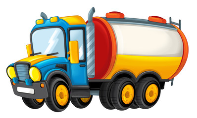 cartoon firetruck isolated - illustration for children