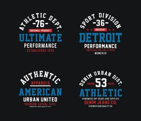 Set athletic design graphic