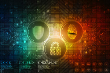 Abstract Technology background.Security concept with padlock icon
