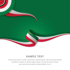Abstract color background Italian flag vector. Background Italian flag