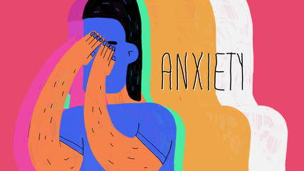 anxiety illustration colorful
