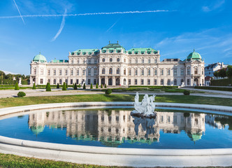 Aluminium Prints Vienna Belvedere palace in Vienna, Austria