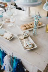 Decoration of wedding candy bar