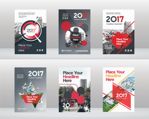 City Background Business Book Cover Design Template Set in A4. Can be adapt to Brochure, Annual Report, Magazine,Poster, Corporate Presentation, Portfolio, Flyer, Banner, Website.