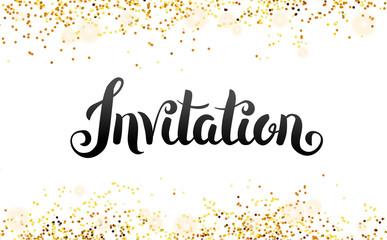 Lettering Invitation You are invited