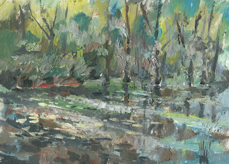 Swamp painting