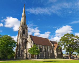 St. Alban's Anglican Church, locally often referred to simply as the English Church, is an Anglican church. It is landmark of Copenhagen, Denmark. Gothic Revival architectural style.