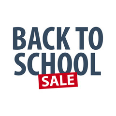 Back to School logo or emblem. Sale and Best offers. Vector illustration.