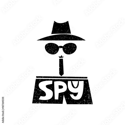 Spy Stock Quote Captivating I Spydetectivehand Drawn Style Typography Poster With