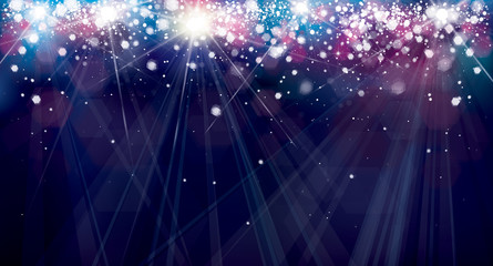 Vector colorful  lights background.