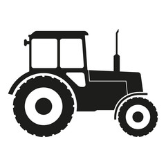Tractor icon isolated on white background. Vector illustration.