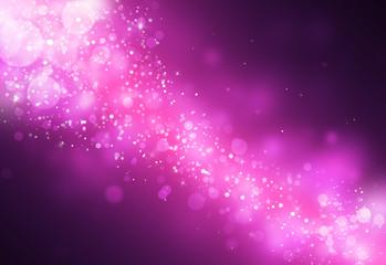 Dark Purple glitter sparkles rays lights bokeh Festive Christmas Elegant abstract background.