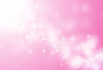 Pink glitter sparkles rays lights bokeh Festive Christmas Elegant abstract background.