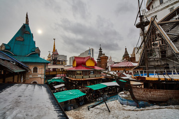 Izmailovsky Kremlin famous landmark in Moscow