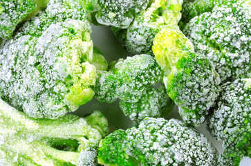 Fresh frozen broccoli, healthy diet food
