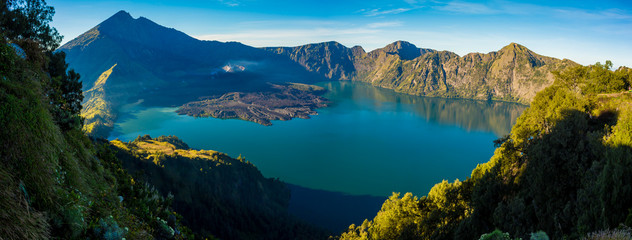 Volcano mountain Rinjani of Indonesia.