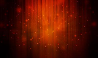 Dark Gold sparkles rays lights  glitter bokeh Festive Elegant abstract background.