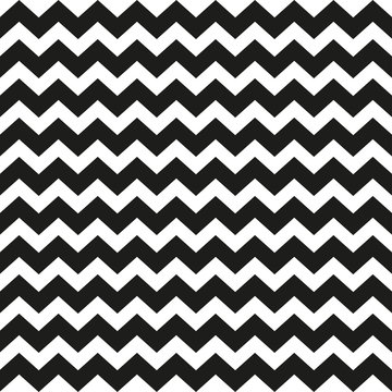 Zig zag pattern. Seamless zig zag bold line pattern. Vector illustration.