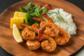 ガーリックシュリンプ Hawaiian cuisine garlic shrimp