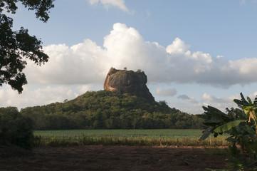 Sigiriya rock and fortress in Sri Lanka