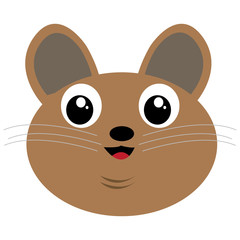Isolated avatar of mouse on a white background, vector illustration