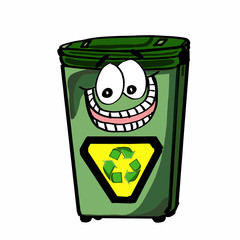 cute recycle bin