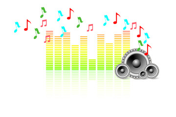 Music Wallpaper with Speaker