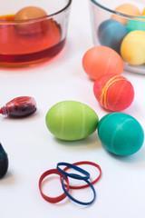 Easter eggs and dying supplies