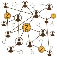 cryptocurrency z cash concept