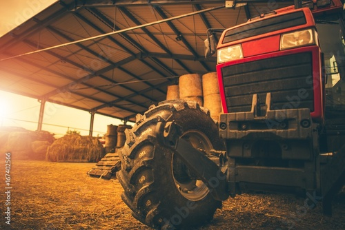 Wall mural Hay Storage and the Tractor