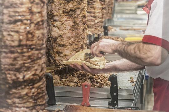 meat cuts prepared Shawarma