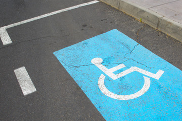 Parking place for invalids