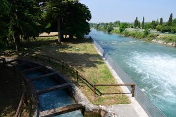 Deviazione fiume - canale