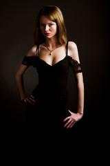 Young glamor woman